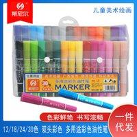 Marcador Snell Double Head 40 Color Oil Color Color Art Office Dibujo Big Head Drawing Line