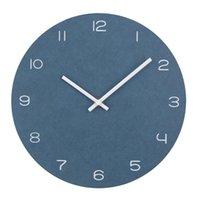 Wall Clocks Modern Circular Vintage Clock Slient Large Brief Style Wood Round Watch Quartz Home Decor Relogio De Parede