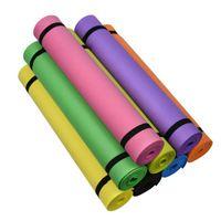 Yoga Matte Übung Rutschfeste Fitness Anfänger Camping High Density Feuchtigkeitsdicht Tragbare 173 * 60 * 0,4 cm Matten