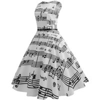 Casual Dresses Top Selling Women Vintage Printing Bodycon Sleeveless Evening Party Prom Swing Dress Comfortable And
