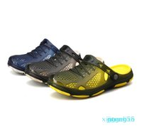 Crocks Hole Shoes Croc Men Green Garden Casual Rubber Clogs For Men Male Sandals Summer Slides Crocse Swimming Jelly Shoes 4465