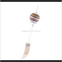 Jardin Céramique Vents Japonais Chênes Bells chanceux Décorations suspendues PL7ET DB207