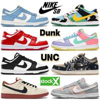 Nike Dunk SB UNC Küstenlaufschuhe Low White Black Chunky Dunky Cactus Shadow University Rot Rosa Taube Kentucky Männer Trainer Frauen Designer Sneakers