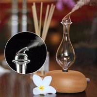 Humidifiers Glass Reservoir Nebulizing Pure Essential Oil Aromatherapy Diffuser, Auto Shut Off  LED Light Aroma Humidifier For Home Office