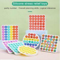 Tiktok Decompression Push Fidget Fidget Favor Favor Favor Pioneer Juguete Colorido ABS Sensor Sensor Rainbow Burbuja Ansiedad Estrés Para Niños Niños