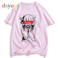 My Hero Academia Men T Shirt Tshirt 90s Anime Boku No Hero Academia Himiko Toga Camiseta Gráfico Kawaii Tops Tees Moda masculina Y0408