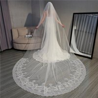 Bridal Veils 3.5 Meters Veil Wedding Ivory For Bride One Layer Sequins Cathedral Long Accessories With Comb