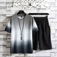 Men's Tracksuits Set of two men's t-shirt pieces, summer design, short sleeve, shorts, suits, ensemble in sweaters, MCAX