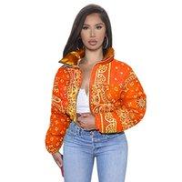 Ruiyi Puffer Women Customized Crop Cotton Size Ladies Down Bubble Plus Puff Orange Winter Coats Jackets Bandana Jrmsu