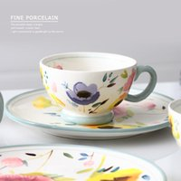 Cups & Saucers Bone China Coffee Cup Sets Luxury White Ceramic Tea Royal British Office Teacup Porcelain Nice Gift EE50BD