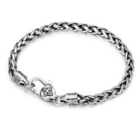 Quality 925 Sterling silver Braided foxtail link chain bracelets 5mm American European antique handmade vintage designer luxury jewelry accessories gifts