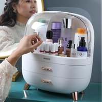 Storage Boxes & Bins Transparent Cosmetic Box Makeup Drawer Organizer Jewelry Nail Polish Make Up Container Desktop Beauty Case
