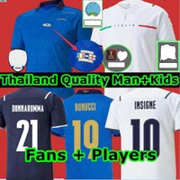 Itália Jersey 2021 2022 Italia Finais Edição Barella Sensi Bonucci Insigne Donnarumma 21 22 Chiellini Bernardeschi Camisas de futebol Homens Kit Kit uniformes