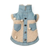 Dog Apparel Winter Coat Jeans Jacket Denim Outfit Thicken Warm Pet Clothes Puppy Small Costume Pomeranian Schnauzer Clothing