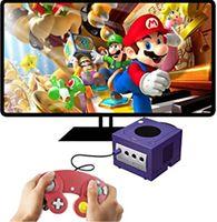 الألعاب السلكية تحكم Gamepad ل NGC Console Gamecube Wii U تمديد كابل توربو dualshocوك