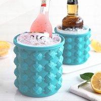 Seaux de glace et refroidisseurs Succurseur de silicone Champagne Whisky Beer Cube Maker Portable Vin Cooler Outils de cuisine Accessoire