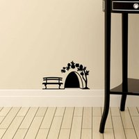 Wall Stickers Small Mouse Hole Sticker Door Cupboard Home Decor Art Kids Room Decoration Creative PVC Carved On The