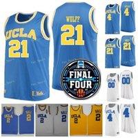 NCAA Baloncesto Final Four UCLA Bruins College 3 Johnny Juzang Jersey 5 Chris Smith 4 Jaime Jaquez Jules Bernard Tyger Campbell Cody Riley