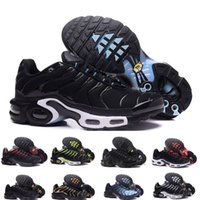 2021 TN PLUS Chaussures Mens Running Chaussures Baskets Chaussures Voyage Blanc Black Hyper Bleu Blue Vert Cheveux Air Coussin TN Sneakers Hommes Sports Taille 36-45