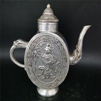 Pentola del vino della bellezza dell argento dell argento del tibet vecchio cinese