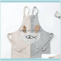 Textiles Home & Gardenpc Comfortable Full Bibs Dining Room Aessories Oil Resistance Cotton And Linen Cooking Apron Waterproof Housework Apro