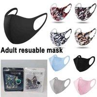 US STOCK STOCK Masque adulte Visage de la bouche Nez Nez Protection Coton Masques Réutilisables Mode lavable anti-poussière anti-poussière Proof DRHL Livraison rapide