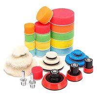 29Pcs Waxing Sponge Polishing Pad Wool Backing Plate Car Tool Set For Polisher Machine Wash Care Products