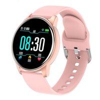 Intelligente Uhren für Frauen Android-Telefone iPhone-kompatibel, IP68 wasserdicht, 1,3-Zoll-Touchscreen, Herzfrequenz / Blut-Sauerstoff-Monitorschlaf Fitness-Tracker