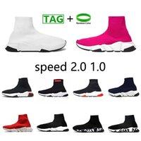 عارضة الأحذية الفاخرة منصة المتضخم سرعة 2.0 مصمم جورب الرياضة 1.0 المدربين المدربين النساء الرجال المتسابقين أحذية رياضية الأزياء الجوارب الأحذية تمتد متماسكة حذاء رياضة
