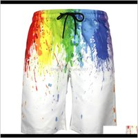 Swim Wear Water Sports & Outdoors Drop Delivery 2021 Mens Quick Dry Beach Pants 5-Inch Swimming Trunks Print Large Casual Shorts 5Sqw9