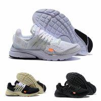 Mejor calidad superior 2021 Mujeres Presto Sports Zapatos The 10 BR TP QS Cream Black White X Designer Airs Cushion Prestos V2 Off Off Brand Trainer Sneakers F12