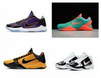 2021 Otantik ZK5 KB5 5 S Açık Ayakkabı Champ Lakers Mor Altın 2 K20 Bruce Lee Protro 5x Kaos Mamba Zoom ZK 5 V Erkek Sneakers KB6 Eğitmenler