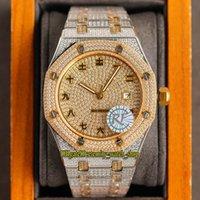 Référence de bijoux Eternity 15400 RRF GYPSOPHILA CZ DIAMANT 3120 Personnages chinois Automatique Caractéristiques doré Diamants Diamants Étui entièrement glacé Mens Montre Mens Montre 15202 Acier Bracelet
