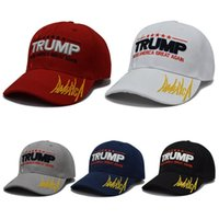 Women Men Canvas Embroidery Breathable Caps Snapback Baseball Cap Splicing 5 Color Trump Hat Make America Great Again Hats DH0519