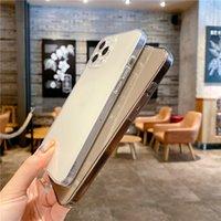 Şeffaf Telefon Kılıfları iphone 12 11 Mini Pro Max XS XR 8 7 Artı TPU Koruyucu Darbeye Dayanıklı Şeffaf Kılıf Kapak 1.5mm