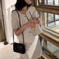 İki parça elbise [menkay] kadın zarif tunik giymek iş ofis rahat parti kadın