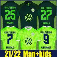 VfL Wolfsburger Fußball-Trikots Roussillon Brooks Brekalo Wegghorst Fußball Jersey Klaus Xaver Pongracic Arnold-Hemden Home Away mann Kids Kit 20/21 Camiseta de Futbol