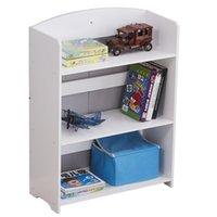 US stock Wooden 4 Tier Storage Rack Holders Unit Display Standing Bathroom Shelf, Bookshelf Bookcase White safe durable