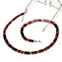 Chic kadın kordon güneş gözlüğü zincir akrilik okuma gözlük zincirleri asılı boyun zincirleri kabloları tutucu gözlük kayışı
