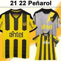 21 22 Peñarol F. Torres Mens Soccer Jerseys Penarol Rodriguez Home Jaune Jaune Noir Gris 130e Chemise de football Uniformes à manches courtes