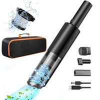 Portable Handheld Car Vacuum Cleaner Wireless 6000Pa For Home Desktop Cleaning With Trunk Tool Storage Bag