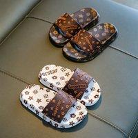 Sommer Jungen Slipper Kleinkind Mädchen tragen Hausschuhe Schuhe Kinder Mode Flip Flops Sandalen Princess Weiche Sohlen Indoor Outdoor 3Color G574DA3