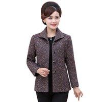 Spring Autumn Women Jacket Coat Printing Fashion Slim Long-Sleeved Outwear Elegant Mother Tops Overcoat Plus Size 4XL Women's Jackets