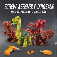 Demontage und Montage von Dinosaurier Kinder Stamm Schraube Kombination DIY Assemblys Elektrische Modell Spielzeug Kultivieren Kinder Hands-on HWF9941