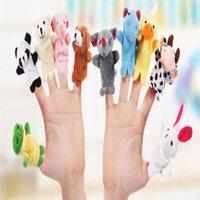 10sets =100PCS finger toy Cute Cartoon Biological Animal Finger Puppet Plush Toys Child Baby Favor Dolls Boys Girls PuppetsX3UR