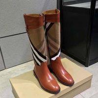 2021 gut verkaufen Mode frauen stiefel aus echtem leder baumwollstoff buchstaben runde kopf mittlere stiefel für cowboy booties home011 11