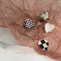 Hair Clips & Barrettes FFLACELL Korean Mini Black And White Grid Magic Color Broken Clip Acetate Love Hairpin Jewelry Gift For Women Girls