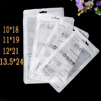 Zip Retail Package Package OPP Bag White Clear Clear PP PVC Cate Phone Упаковка для iPhone 12 11 XS MAX XR Samsung S21 Plus