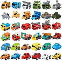 Mini Pull Back Engineering Car Tractor Toy Dump Truck Plastic Model Vehicle Educational Toys Children Wheels Set Cool Birthday Gift Mixed Lo
