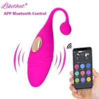 Vibromators Bluetooth Application Vibrateur Jouets sexuels pour couple Gode Gode Gitchitoris Stimulateur Vagina Egg Femmes Shop